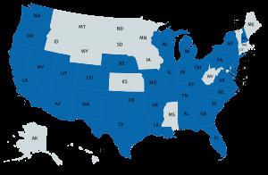 RadiologyAssist Coverage Map